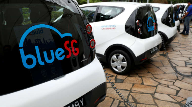 An Electric Car-Sharing Program Launched By Singapore, Providing Clean Transit Alternative